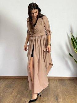 Długa Sukienka Florencja Beż